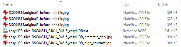 HDR files saved as exr (huge filesize)