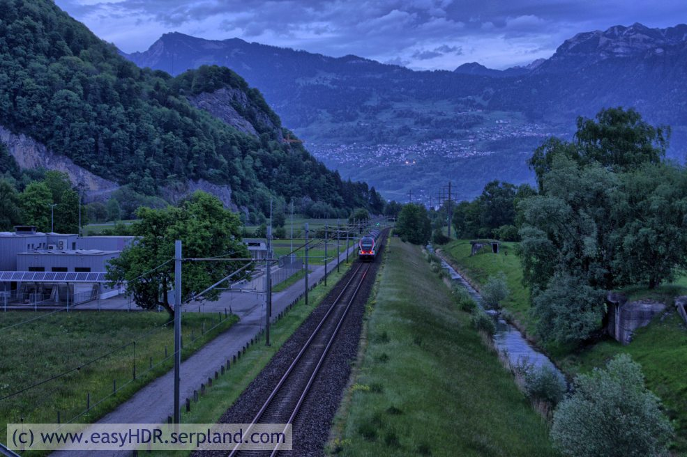 Easy HDR Pro Image | Railway in darkness | Digital photo editing with easyHDR-Pro with all default settings