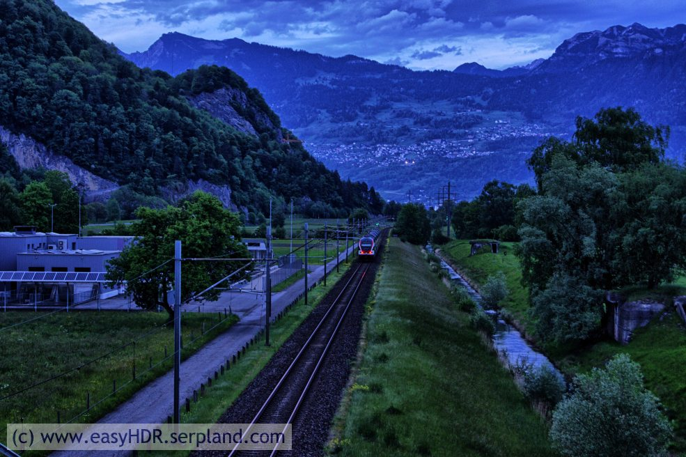 Easy HDR Pro Image | Railway in darkness | Digital photo editing with easyHDR-Pro in style high contrast 2