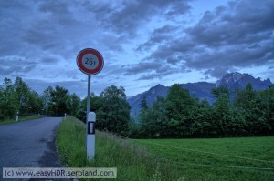 Easy HDR Pro Image | 26tons sign in Switzerland | HDR photography rendered with easyHDR default settings